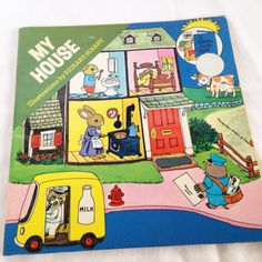 """Richard Scarry's """"My House""""- Vintage Kids Book 1976 by RetroVintageHeart on Etsy"""