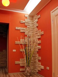 Stone Interior, Home Interior Design, Interior Decorating, Decorating Ideas, Home Decor Kitchen, Diy Home Decor, Room Decor, Tv Wall Design, Ceiling Design
