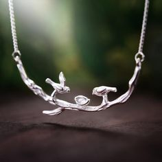 UK 925 Sterling Silver Bird On Branch Necklace Jewelry Women Natural Handmade Silver Necklaces, Handmade Necklaces, Jewelry Necklaces, Fine Jewelry, Women Jewelry, Branch Necklace, Bird On Branch, Cute Birds, Necklace Types