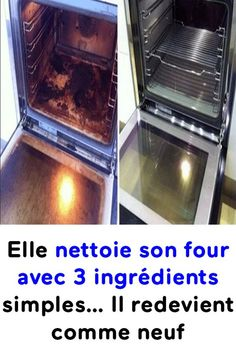 She cleans her oven with 3 simple ingredients . It becomes like new again! Elle nettoie son four avec 3 ingrédients simples… Il redevient comme neuf ! She cleans her oven with 3 simple ingredients … It becomes like new again! Deep Cleaning Tips, House Cleaning Tips, Cleaning Solutions, Spring Cleaning, Cleaning Hacks, Bedroom Cleaning, Kitchen Cleaning, Clean Baking Pans, Hard Water Stains