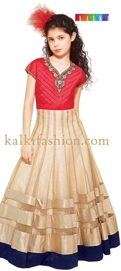 Buy it now  http://www.kalkifashion.com/red-and-gold-gown-with-embroidered-neckline.html Red and gold gown with embroidered neckline