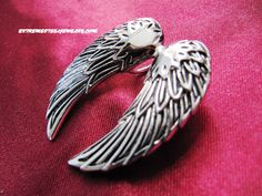 316L Surgical Steel Angel Wings Pendant