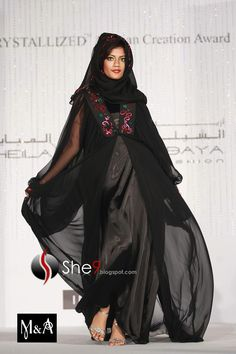 beautiful abaya pictures? | abaya have beautiful contrast hijab. These types of Hijabs and abayas ...