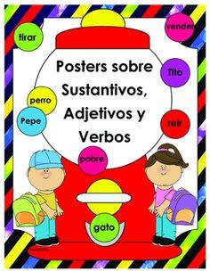 El+siguiente+set+de+posters+sobre+adjetivos,+sustantivos+y+verbos+contiene+lo+siguiente:+10+pginas+en+totalLos+posters+son+tamao+17+x+223+Posters+en+blanco+rotulados+con+verbos,+adjetivos+y+sustantivos+para+utilizarlos+interactivos+con+los+estudiantes.3+Posters+con+los+adjetivos,+sustantivos+o+verbos+dentro+del+dibujo+para+decorar.3+pginas+con+gomas+de+mascar+de+cada+uno.+(verbos,+adjetivos+y+sustantivos)1+pgina+de+gomas+de+mascar+en+blanco+para+que+pueda+escribir+los+que+usted+desee.
