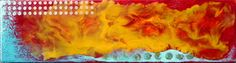 """Om, Fire Water"", Encaustic on Wood, 5 x Zen Art, Om, Fire, Gallery, Water, Artist, Painting, Gripe Water, Roof Rack"