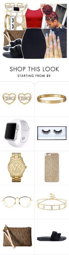 """"" by princessjolie ❤ liked on Polyvore featuring Cartier, Apple, Huda Beauty, Michael Kors, Linda Farrow, MICHAEL Michael Kors and Puma"