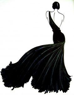 Illustration black dress