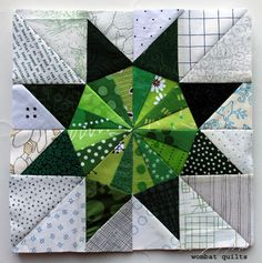 8 inch star block | WOMBAT QUILTS  Paper pieced with free pdf pattern!!
