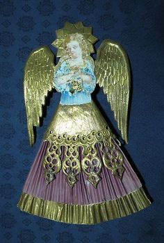 Antique German Dresden Angel Tree Top | eBay Victorian Christmas Ornaments, Christmas Tree Toppers, Christmas Deco, Christmas Angels, All Things Christmas, Christmas Tree Ornaments, Christmas Crafts, Vintage Tree Toppers, Tree Tops