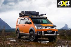 Platinum Vehicle Sales transformed this Delica people-mover into an all-terrain camper. Delica D5, 4x4 Van, Adventure Campers, Van Car, Vw T5, House On Wheels, Campervan, Concept Cars, Vehicles