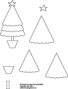 Christmas tree paper piecing pattern (pdf file is available for download below)