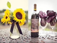 AMBIANCE:  inspiration (we LOVE sunflowers...but they're sadly not in season during our wedding)