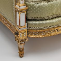 Set of furniture (daybed, armchair, and fire screen) Maker: Jean-Baptiste-Claude Sené (1748–1803) Maker: painted and gilded by Louis-François Chatard (ca. 1749–1819)