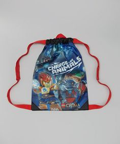 Take a look at this Blue & Red LEGO 'Chima' Cinch Bag by LEGO on #zulily today!