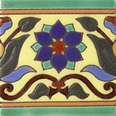 Mexican Tiles Border High Relief RVL flor-a