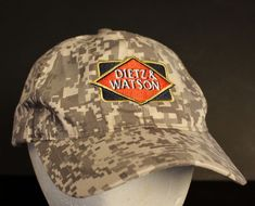 Dietz & Watson Digital Camo Hat Cap Strapback American Flag Emblem Adjustable #DietzWatson #BaseballCap