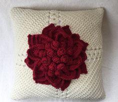 Decorative pillow Crochet pillow crochet by JilaCrochet on Etsy