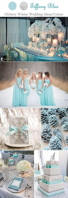 beautiful tiffany blue and sparkling silver winter