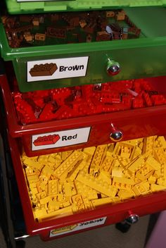 Lego Storage - FREE Labels. I have this exact storage unit and all of my legos are colored coordinated! Just need the labels!
