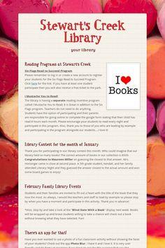Stewart's Creek Library Newsletter for Feb 2015