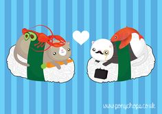 Sushi Cats in love