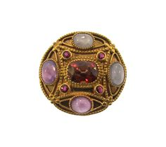 Late 19th Century Louis Comfort Tiffany Citrine & Star Sapphire Brooch
