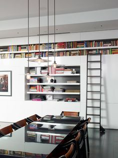 "Ashe + Leandro; always liked rolling stepladder for ""TV/Library room""?"