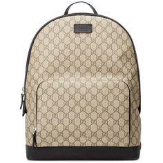 3b438925b Gucci Men's Bee-embroidered Gg Supreme Canvas Tote Bag 437549 Coffee ...
