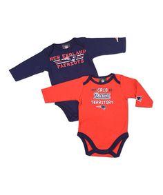 England Patriots 'Crib' Bodysuit Set - Infant by NFL on #zulily