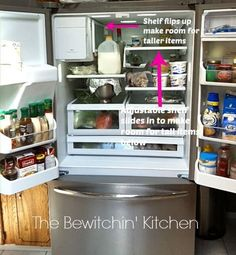 Frigidaire Gallery French Door Refrigerator is the perfect fridge for us type a's. It provides so much organization! Frigidaire Gallery Refrigerator, Samsung Fridge, Fridge Decor, Small Fridges, Refrigerator Organization, French Doors, Organization Ideas, Household Organization, Cooking