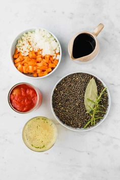 The best vegan lentil Bolognese recipe ever! Aromatic, delicious, and loaded with nutrients - this vegan Bolognese sauce is a favorite family meal! Spaghetti Bolognese, Bolognese Sauce, Lentil Bolognese Vegan, French Green Lentils, Vegan Parmesan Cheese, Pasta, Italian Dishes, Sauce Recipes, Stuffed Peppers