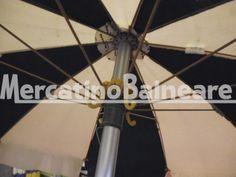 OMBR USATO Q.TA' 6 EUR 35 CAD - Mercatino Balneare ombrellone usato con palo in alluminio diametro 38. tessuto a spicchi molto scolorito nella parte verde ma ancora con una buona tenacita' vendibili singolarmente prezzo escluso di parte inferiore, iva e trasporto Quantità:6 Prezzo €35.00+iva  http://www.mercatinobalneare.it/annuncio/ombr-usato-q-ta-6-eur-35-cad-3/  #stabilimentobalneare #attrezzaturabalneare #attrezzaturabalneareusata #mercatinobalneare #attr