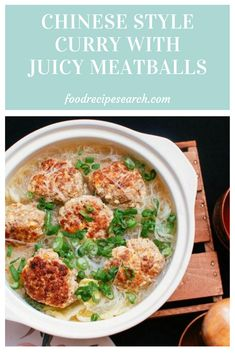 Chinese Style Curry With Juicy Meatballs - 1 in the delicious and wholesome Chinese dishes is Chinese style curry with juicy meatballs. In this article tend to be the substances and actions for making that. Bbq Baby Back Ribs, Healthy Chinese, Chinese Style, Macaroni And Cheese, Curry, Tasty, Beef, Dishes, Create