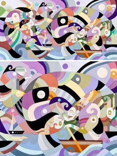 Discoveries by Fernando Chamarelli, acrylic on canvas, 240 x 120 cm, 2012