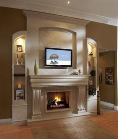 Fireplace Mantels | fireplace mantel in your home : How To Decorate A Fireplace Mantel ...