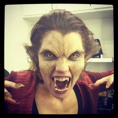 Adelaide Kane's transformation into Alpha Werewolf Cora: Red hair, contacts, claws and fangs oh my!