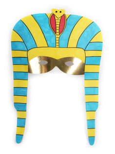 FREE pdf template tutorial--How to Make an Egyptian Mask #Schoolprojects #Egypt #Mask