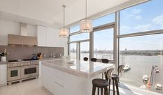 Kelsey Grammer's NYC condo - the kitchen