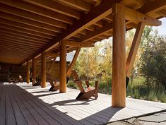 Contemplation area at Laurance S. Rockefeller Preserve by Carney Logan Burke Architects, Moose, Wyoming.