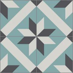 Cement Tiles - Toscano 908 A 8 x 8 Deco - By Granada Tile