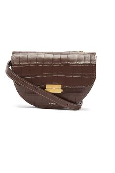 224ef0879d3a Anna crocodile-effect leather belt bag