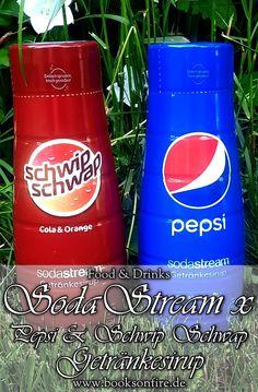 Da ich als Kind sowohl mit Pepsi als auch SodaStream aufgewachsen bin, konnte ich bei den neuen Sirupen nicht widerstehen. Ob sie für mich an das Original heranreichen können?  #Pepsi #SchwipSchwap #SodaStream #FoodBlogger #Bloggernetzwerk #Sirup Mountain Dew, Pepsi, Beverages, Drinks, Foodblogger, Canning, Books, Plastic Bottles, Glass Bottles