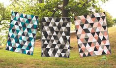 Triangle quilts by Rosalee's Room rosaleesroom@gmail.com