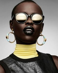 Grace Bol for Gravure Magazine Editorial. An homage to another Grace?? Jones?