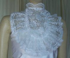 AP51 White Lace jabot Pirate Prince Fairytale Victorian Steampunk Dress Collar | eBay