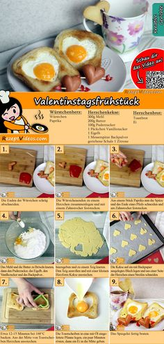 Let's surprise your significant other with the Valentine's Day Breakfast! You can easily find the recipe by scanning the QR code in the top right corner! Sausage Breakfast, Breakfast For Kids, Breakfast Recipes, Fruit Gums, All You Need Is, Valentines Day Food, Hungarian Recipes, Recipes From Heaven, Creative Food