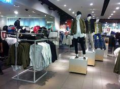 // visual merchandising // menswear // topman // oxford circus // London // khaki
