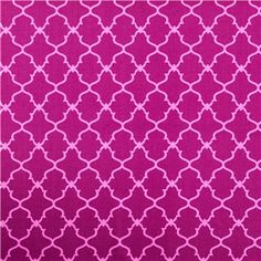 """APT5-5 Magenta Aztec Geometric Fabric is 44"""" - 45"""" wide and 100% cotton. Invite exciting color and patterns into your world with this gorgeous geometric-patterned fabric in shades of magenta and pink. With a bright, beautiful, unique pattern, this fabric will make beautiful pillow covers, drapes, curtains, and so much more!    CARE INSTRUCTIONS: Machine wash, cold; tumble dry.    Available in 1-yard increments. Average bolt size is approximately 9 yards. Price displayed ..."""
