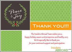 Holiday Greetings! - Picture - Insiders Abroad