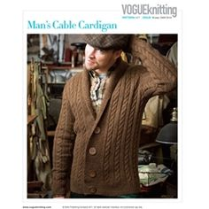 844725096482b6 Man's Cable Cardigan from Vouge Knitting Winter 2009/10. does the man come  with